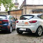 Plac manewrowy OSK AB-AS w Poznaniu, Kia RIO & Renault CLIO IV